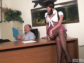 Brunette, Milf, Office, Pornstar, Stockings
