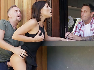 Neighbor fucked babe anal during afford
