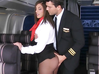 Be in control of seduced ayah to fuck in airplane