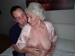 Busty full-grown granny Norma swallows every last relinquish of cum