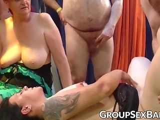 Mature sluts unconventional group sexual congress
