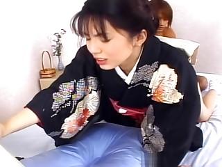 Making a Japanese schoolgirl cum - Pompie