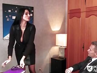 Brunette, Boss, Cougar, European, Mature, Office, Teacher