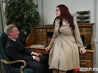 Alessandra Jane coupled with Emma are having a 3some in their office, instead be advisable for doing their job