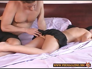 Renee Pornero is a dazzling brunette who wants to be plowed well