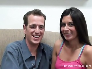 Real amateur couple fucking for the first time on video