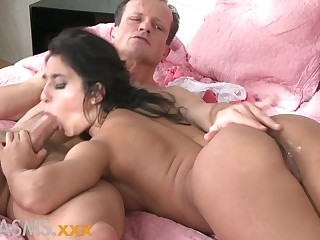 ORGASMS Tanned hungarian beauty loves to scenic route his cock