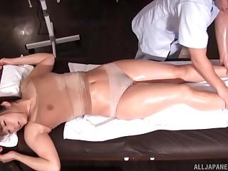 Acquiring a sensual plumpness knead makes Mizusawa Riko horny