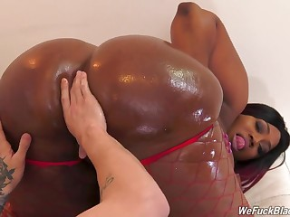 Thick ebony goes wild on a black fucker