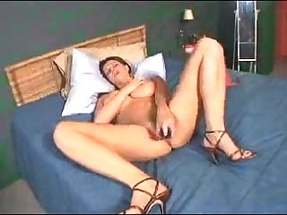 Tiny boobs MILF toys say no to pussy coupled with bore