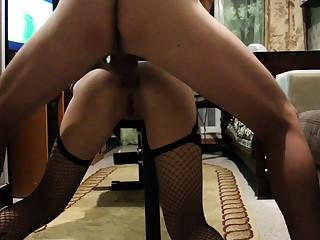 Fat ass latina getting asshole drilled hard POV doggystyle
