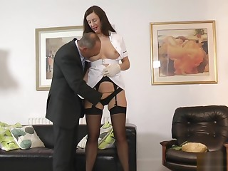 British glamcore milf in stockings