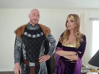 Costumed Britney Amber has amazing having it away skills and likes role edict
