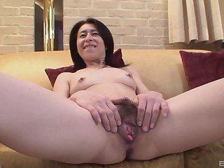 Mature asian Nobuko Tachikawa whimsy fixed with an increment of long friend's cock