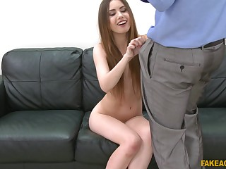 Stranger's penis and a finger on their way clit can please horny Elle Rose