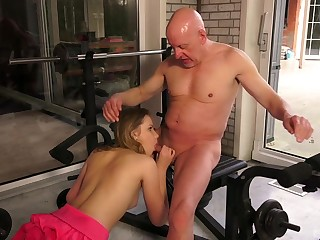 Old plus young unpaid sex in a sensual XXX scene