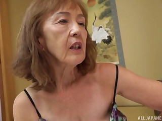 Asian milf Asano Taeko masturbates absolutely not her dildo and a dirty mind
