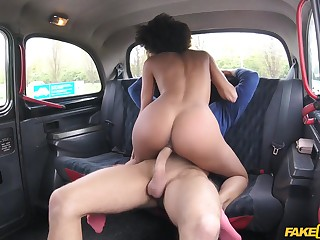 Taxi driver spreads legs of sweet felonious girl for his big penis