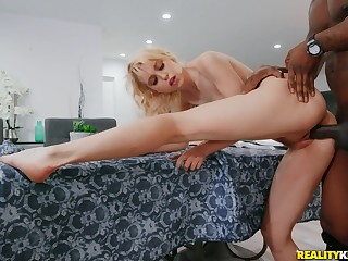 One monster BBC for flannel stimulated blonde babe Chloe Cherry