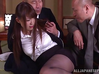 Fated up Yuuka Tachibana gets spit and fucked round the pussy