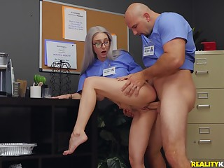 Man fucks this nurse in the most intense manners