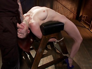 Gagged girl would moreover crave for a undertaking of anal