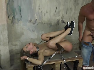Sarah Kay gets her holes defeated added to fucked during the BDSM game