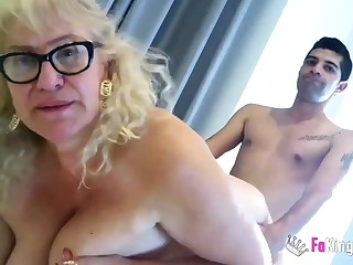 Spanish Granny Knows How To Handle A Yo - MILF
