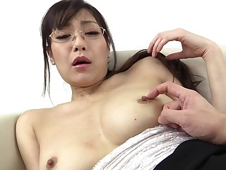 Shy Japanese Nanami Hirose just about glasses fucked from behind