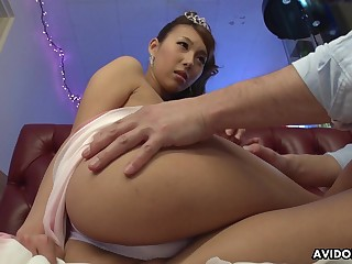 Asian graduate partisan Mai Takizawa gets their way pussy fucked and creampied