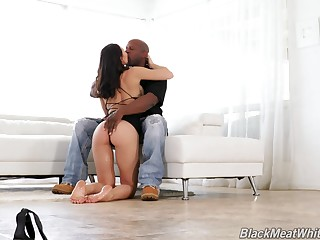 Interracial fucking in the living room with nice ass Aidra Fox