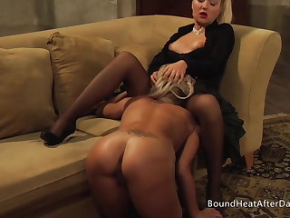 Lesbian Madame Moans And Orgasms From Slave's Pussy Licking