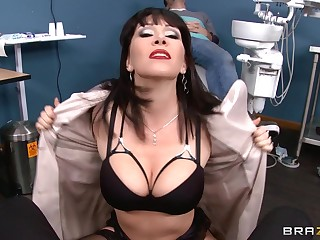 Mature chick Rayveness takes a substantial dick in will not hear of tight holes