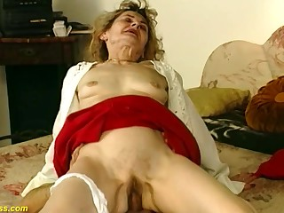 Hairy tree 81 time eon old german grandma gets wild together with deep fucked in irrational sex positions