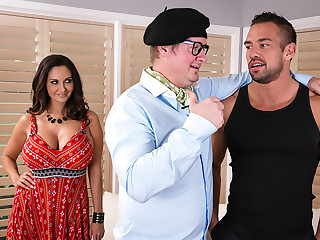 Ava Addams gets needs meet by dancing trainer her husband hired