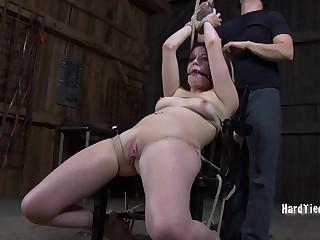 Amateur video of hot ass redhead Lila Katt getting tortured