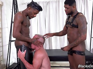 Bareback interracial anal porn with duo black men beyond everything a gay older