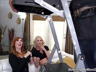 Energized women share dick in anal triumvirate convivial