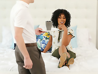 Misty Stone asked be worthwhile for green tea with extra COCK!!