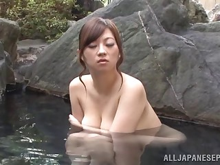 Quickie fucking on make an issue of amaze in busty Japanese Miyuki Matsushita