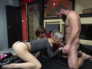 FFM threesome with cock vitalized matures Dana and Belinda Bee