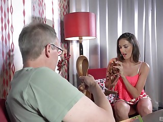 Fit e plan hottie suits her stepdad's energized needs with proper fucking