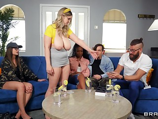 MILF with huge knockers, insane titjob increased by certain home porn