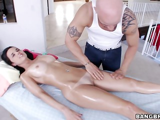 Arse palpate leads to balls deep shafting with changeable Dillion Harper