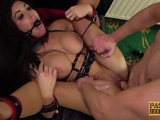 Gagged and storm-tossed fucked be beneficial to her first maledom decree
