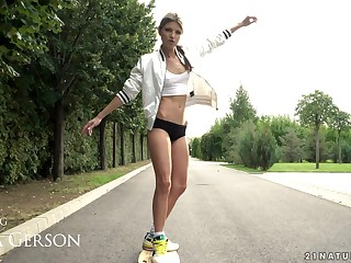 Longboard tender girl Gina Gerson also loves to get her anus wrecked