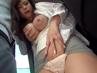 Big-Chested, Japanese black-haired is property sexually abused in a public buss, lounge she enjoys it a heap