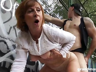 Of age dame is gargling sausage in a public place and obtaining poked rigid, in comeback