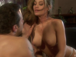 Hardcore one on one action all over well-endowed MILF Ryder Skye